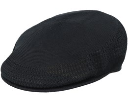 Tropic 504 Ventair Black Flat Cap - Kangol