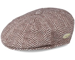 Herringbone 504 Brown Flatcap - Kangol