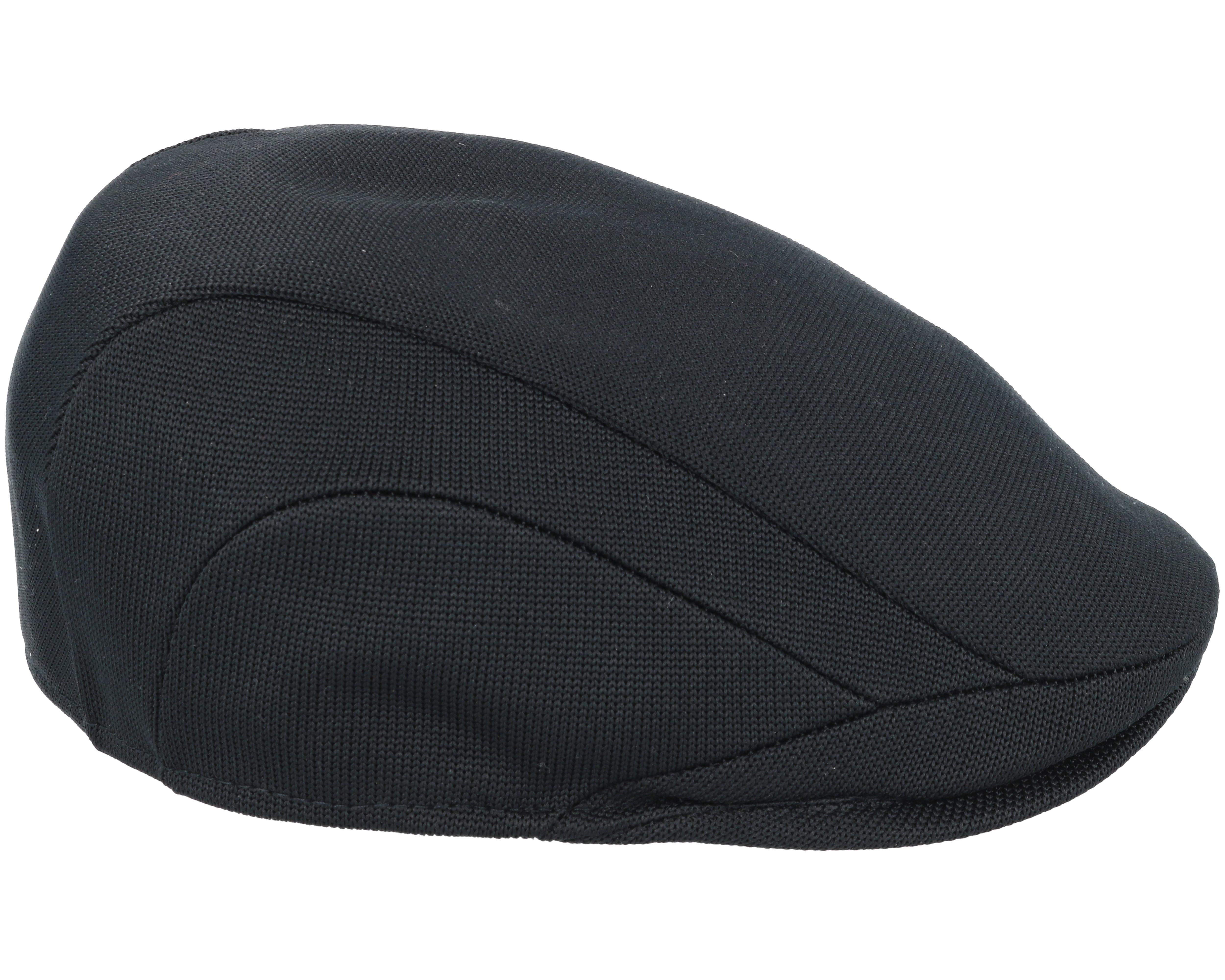 Tropic 507 Black Flat Cap - Kangol Keps