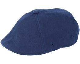Wool Flexfit 504 Navy Flat Cap - Kangol