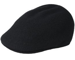 Seamless wool 507 Black Flatcap - Kangol
