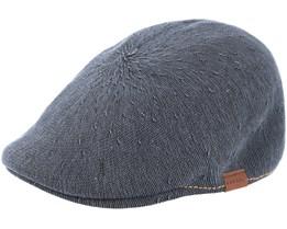 Indigo 507 Dark Grey Flat Cap - Kangol
