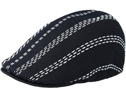Float Stripe 507 Black/Grey Flat Cap - Kangol