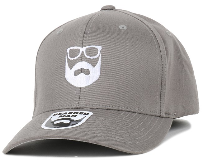 Logo Grey/White Flexfit - Bearded Man