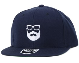 Logo Navy/White Snapback - Bearded Man