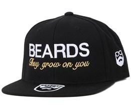 Beards Grow Black/White Snapback - Bearded Man