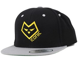 Logo Two Black/Yellow Snapback - Iconic
