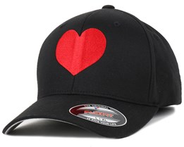 Heart Black/Red Flexfit - Iconic
