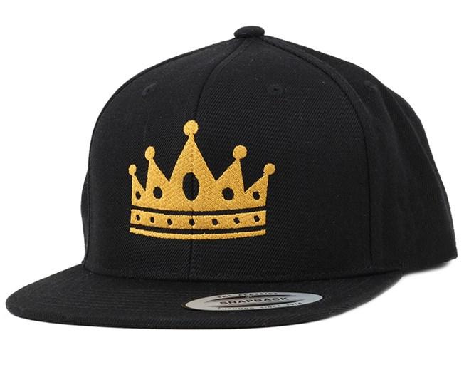Crown Black/Gold Snapback - Iconic