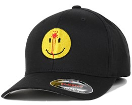 Smiley Headshot Black/Yellow Flexfit - Iconic