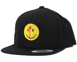 Smiley Headshot Black/Yellow Snapback - Iconic
