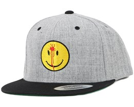 Smiley Headshot Grey/Yellow Snapback - Iconic