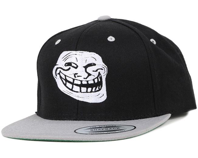 Trollface Black/White Snapback - Iconic