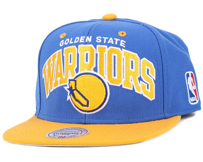 Golden State Warriors Team Arch Snapback - Mitchell & Ness