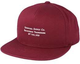 Trademark Windsor Wine Red Snapback - Herschel