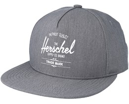 Whaler Heather Grey Snapback - Herschel