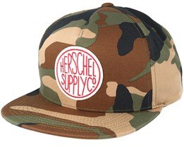 Scope Woodland Camo Snapback - Herschel