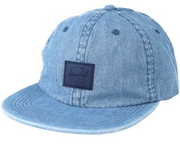 Faded Indigo Denim Blue Strapback - Herschel