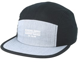 Glendale Two-Tone Black/Heather Grey 5-Panel - Herschel