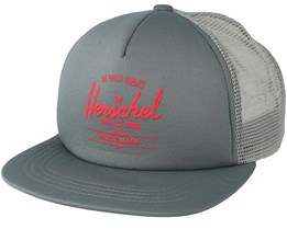 Whaler Mesh Soft Brim Windsor Shadow/Hot Coral Trucker - Herschel