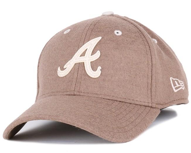 Atlanta Braves Felt Wool Rust 39Thirty Flexfit - New Era