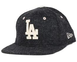 LA Dodgers Felt Wool Graphite 9Fifty Snapback - New Era