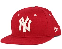 NY Yankees Felt Wool Heather Red 9Fifty Snapback - New Era