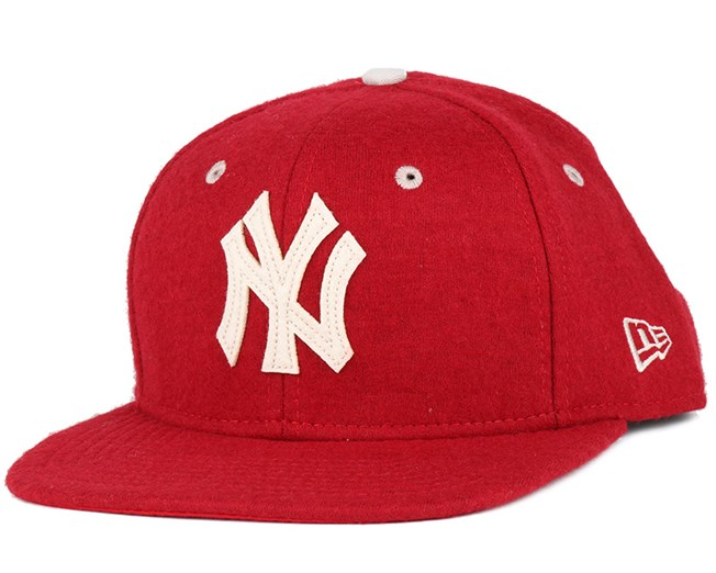 NY Yankees Felt Wool Heather Red 9Fifty Snapback - New Era