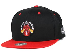 Crazy Cat Black/Red Snapback - Appertiff