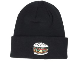 The Crave Black Beanie - Coal