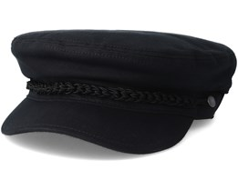 The Puget Black Flat Cap - Coal
