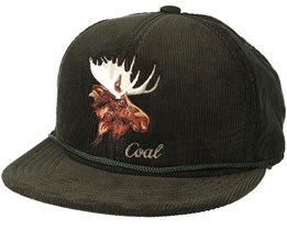 The Wilderness Forest Green Snapback - Coal