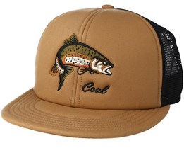 The Wilds Trucker Light Brown Snapback - Coal