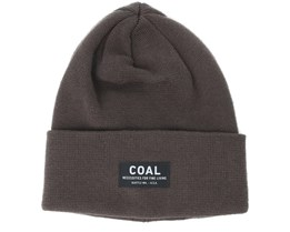 The Carson Brown Beanie - Coal