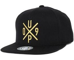 UP09 Black/Gold Snapback - Upfront