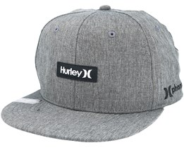 Phantom One & Only Heather Grey Snapback - Hurley