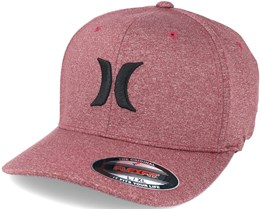 One & Textures 2.0 Red/Black Flexfit - Hurley