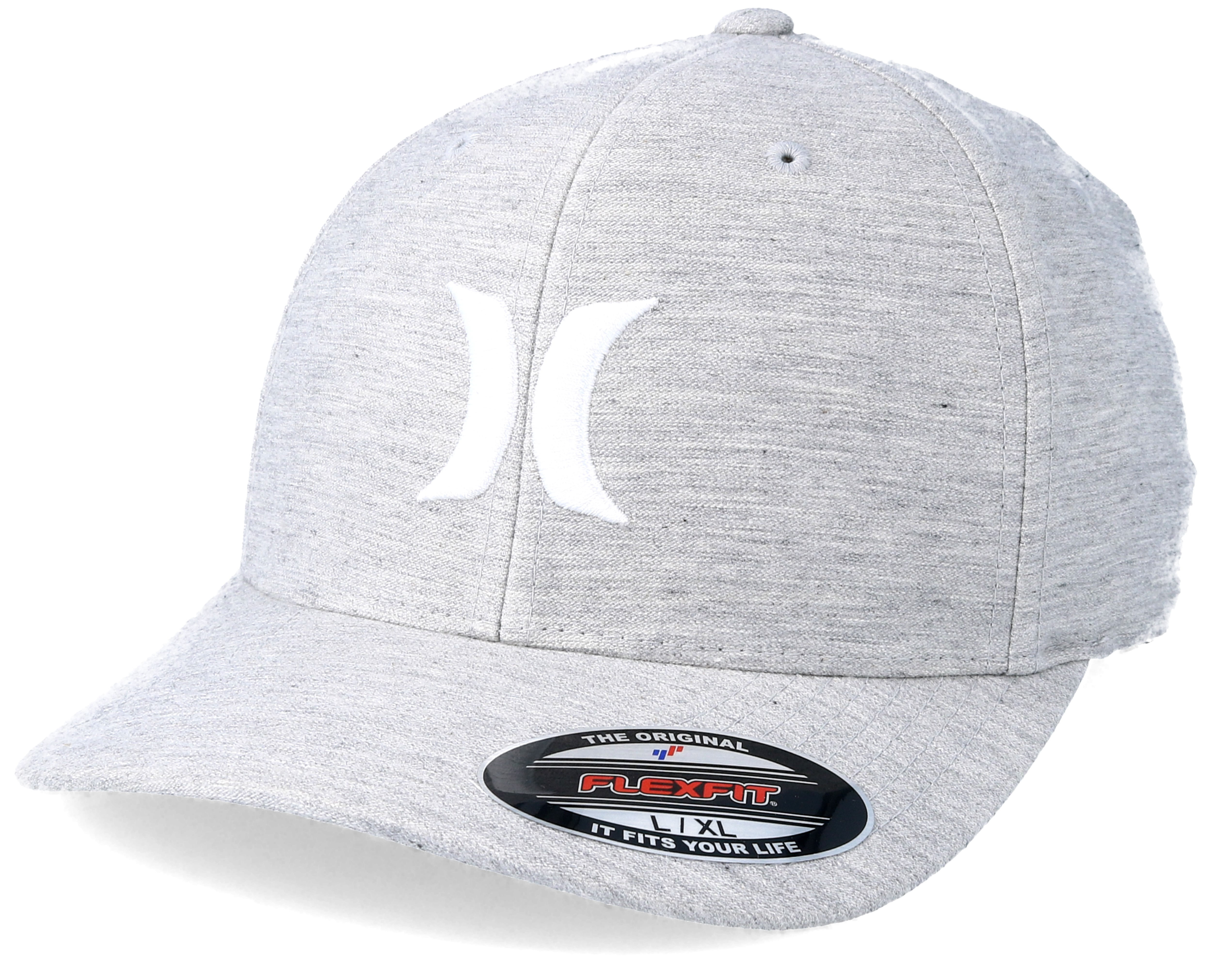 One and Textures Grey Flexfit - Hurley caps  05613243a49