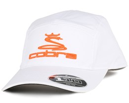 Tour White/Orange 110 5-Panel - Cobra