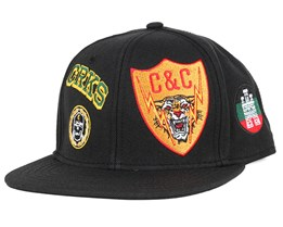 Badges Black Snapback - Crooks & Castles