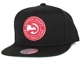 Atlanta Hawks Wool Solid Black Snapback - Mitchell & Ness