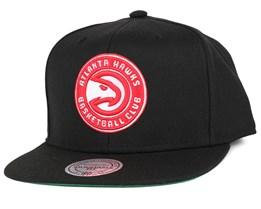 Atlanta Hawks Wool Solid Black Snapback - Mitchell & Ness