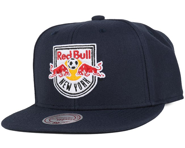 NY Red Bulls Wool Solid Navy Snapback - Mitchell & Ness
