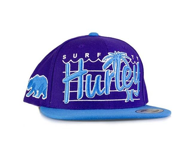 Surf City Palm Cyan - Hurley