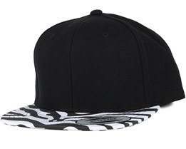 Animal Black Zebra Snapback - Yupoong