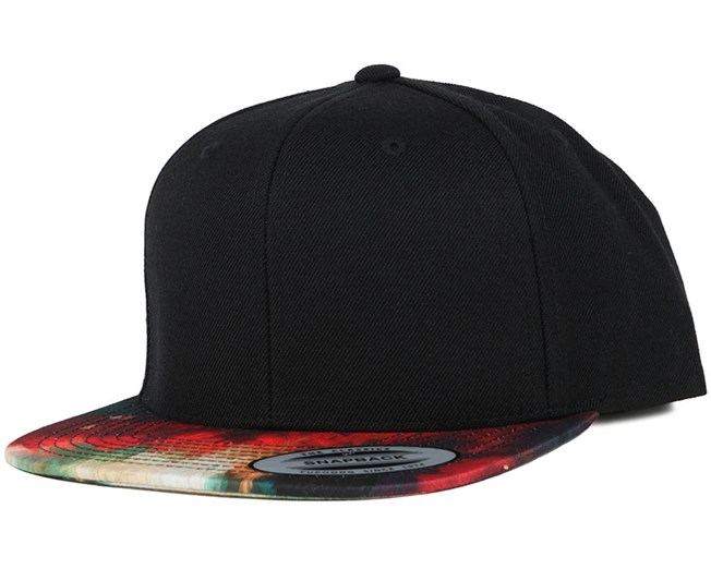 Oil Paint Visor Black/Multicolour Snapback - Yupoong