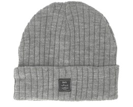 Parker Heather Grey Beanie - Barts