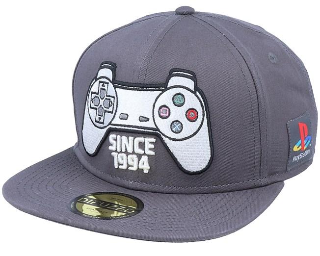 Playstation Controller Grey Snapback - Bioworld caps  f4a8fad92ed