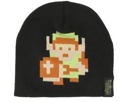 Nintendo Zelda 8-Bit Link Pixel Black Beanie - Bioworld