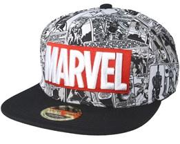Marvel Classic Logo Grey Snapback - Bioworld